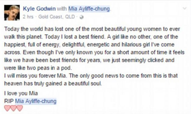 Friends have described Ayliffe-Chung as