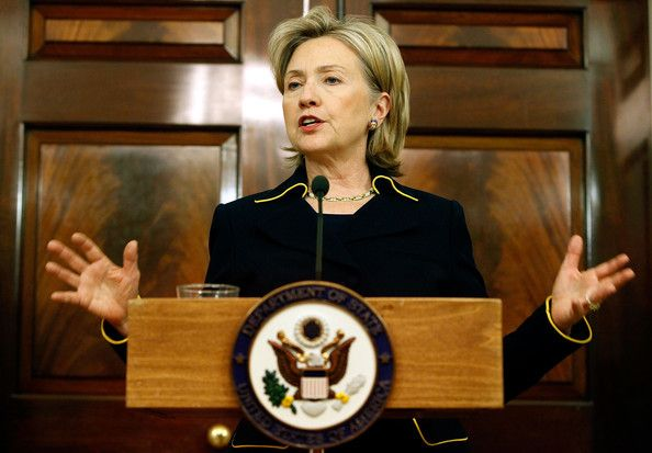 Pictured: Hillary Clinton as secretary of state.