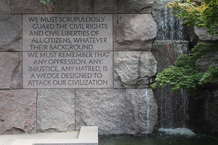 The Franklin Delano Roosevelt Memorial in Washington, D.C.