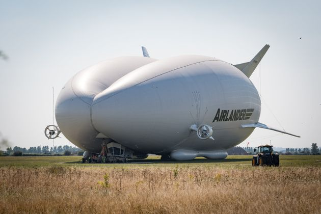 The Airlander 10 - aka The Flying Bum - in happier