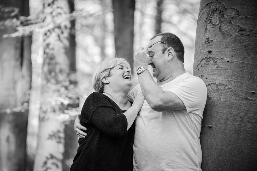 My husband and I prior to losing weight and adopting a sustainable healthier life style.