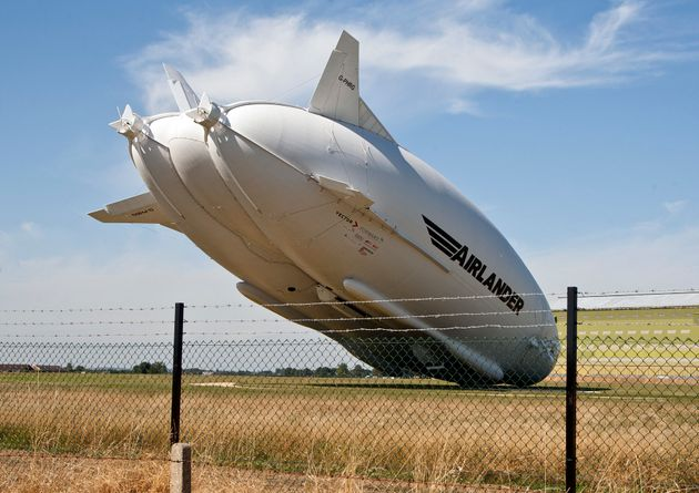 The £25million airship crashed on Wednesday at around 11amat Cardington Airfield in