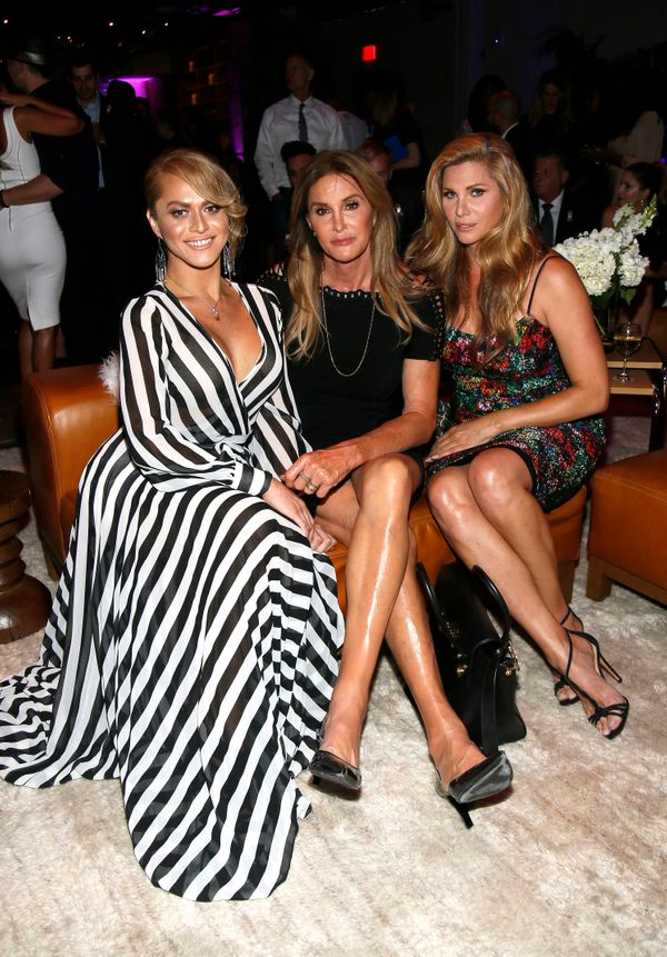 Sasha Colby, from left, Caitlyn Jenner and Candis Cayne attend onePULSE: A Benefit for Orlando at NeueHouse Hollywood on Frid