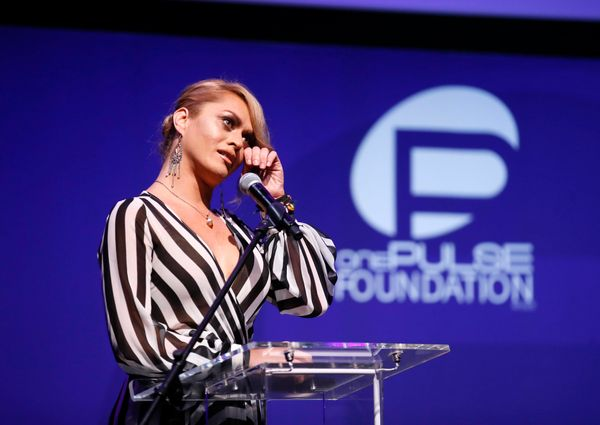 IMAGE DISTRIBUTED FOR ONEPULSE FOUNDATION - Sasha Colby speaks at onePULSE: A Benefit for Orlando at NeueHouse Hollywood on F