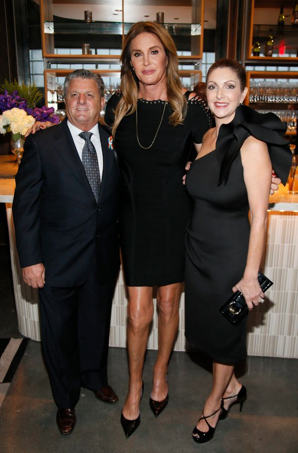 Rosario Poma, from left, Caitlyn Jenner,  and Barbara Poma attend onePULSE: A Benefit for Orlando at NeueHouse Hollywood on F