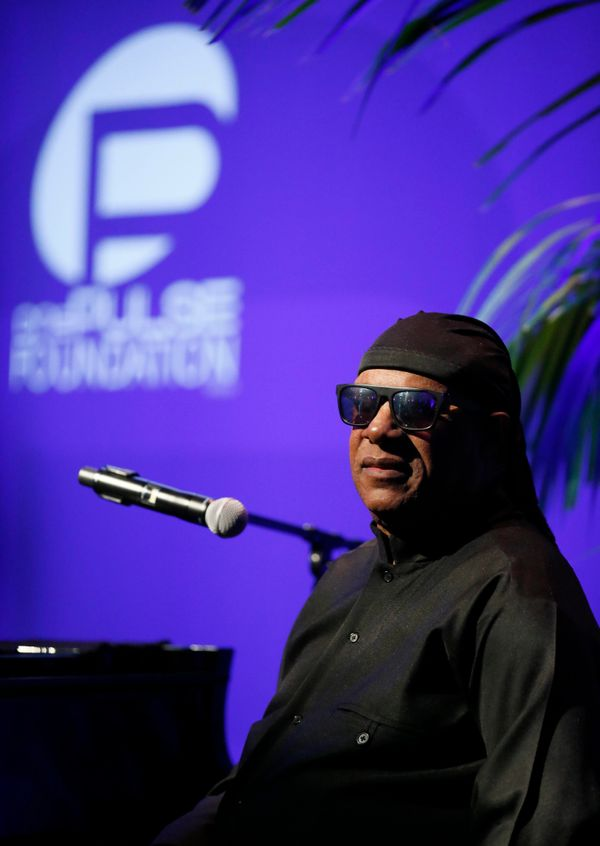 IMAGE DISTRIBUTED FOR ONEPULSE FOUNDATION - Stevie Wonder performs at onePULSE: A Benefit for Orlando at NeueHouse Hollywood