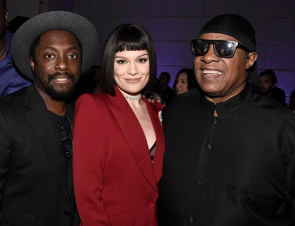 IMAGE DISTRIBUTED FOR ONEPULSE FOUNDATION - will.i.am, from left, Jessie J and Stevie Wonder attend onePULSE: A Benefit for O