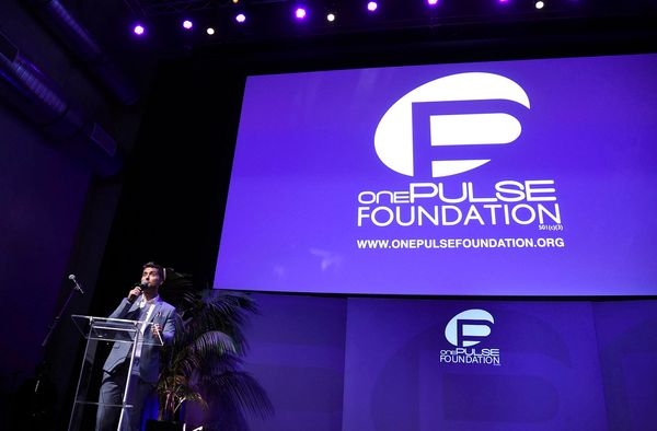 Lance Bass speaks at onePULSE: A Benefit for Orlando at NeueHouse Hollywood on Friday, Aug. 19, 2016, in Los Angeles. (Photo
