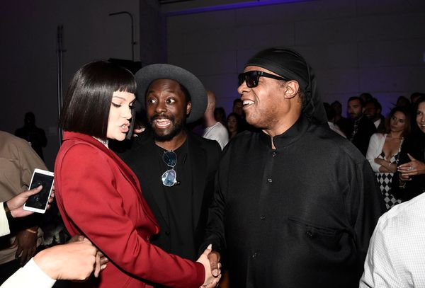 Jessie J, from left, will.i.am and Stevie Wonder attend onePULSE: A Benefit for Orlando at NeueHouse Hollywood on Friday, Aug