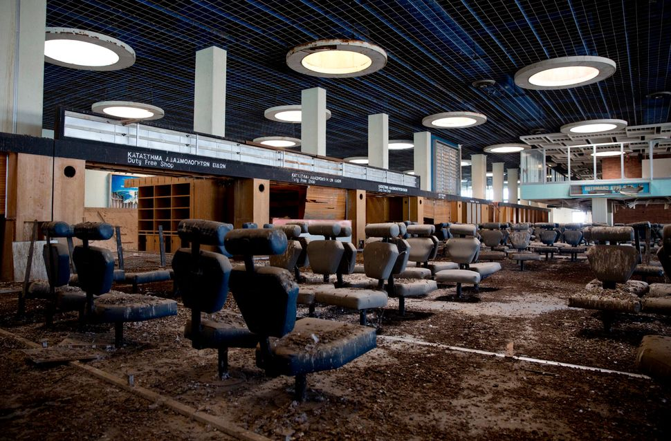 """The passenger departure area at Nicosia International Airport is """"frozen in time."""""""