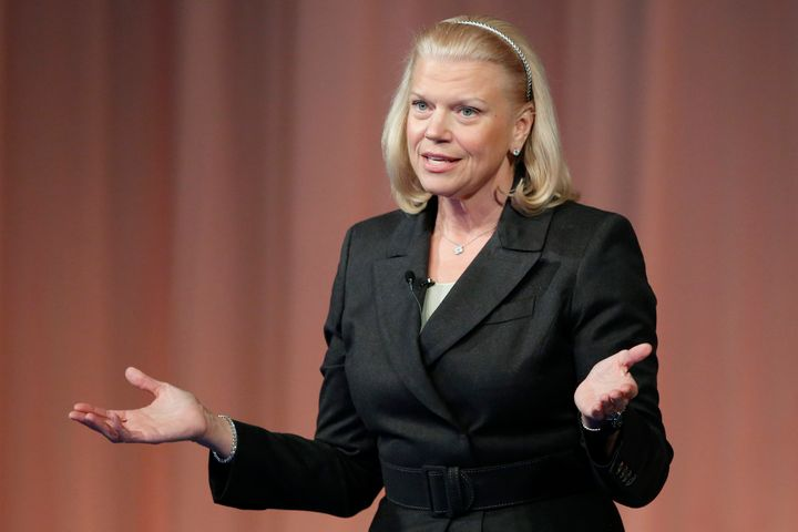 IBM chief executive Virginia 'Ginni' Rometty. Nearly half of the (very few) women on the S&P 500 have blonde hair.