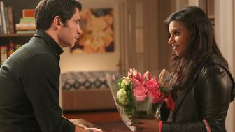 THE MINDY PROJECT: Chris Messina (L) and Mindy Kaling in the 'How to Lose a Mom in Ten Days' episode of THE MINDY PROJECT airing Tuesday, Nov. 25, 2014 (9:30-10:00 PM ET/PT) on FOX.  (Photo by FOX via Getty Images)