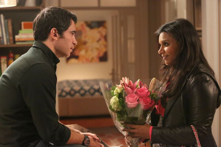THE MINDY PROJECT: Chris Messina (L) and Mindy Kaling in the 'How to Lose a Mom in Ten Days' episode of THE MINDY PROJECT air