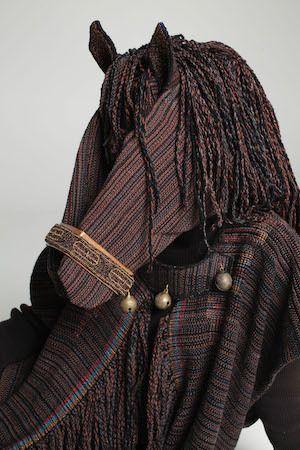 Margaret Roach Wheeler - <i>Chikasha Issoba</i>, handwovencotten, glass beads, brass bells