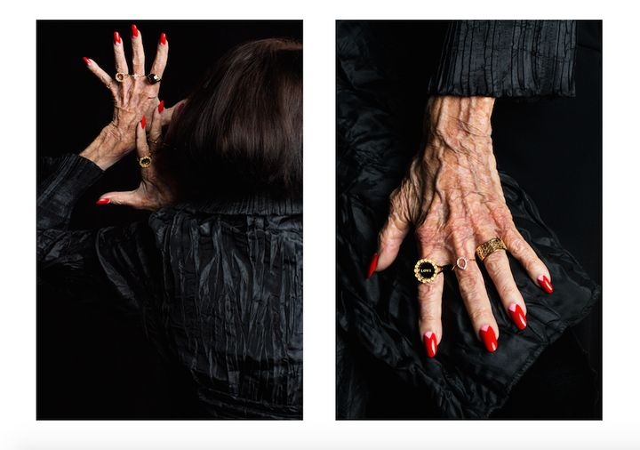 A New Zealand jewelry designer is showcasing older women's hands.