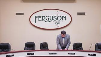FERGUSON, MO - NOVEMBER 10:  Mayor James Knowles packs up following a city council meeting on November 10, 2014 in Ferguson, Missouri. The St. Louis suburb is hoping to avoid a repeat of rioting which broke out after teenager Michael Brown was killed by Darren Wilson, a Ferguson police officer, if the grand jury investigating the shooting does not find justification to prosecute Wilson.  The grand jurys decision is expected sometime in November.  (Photo by Scott Olson/Getty Images)