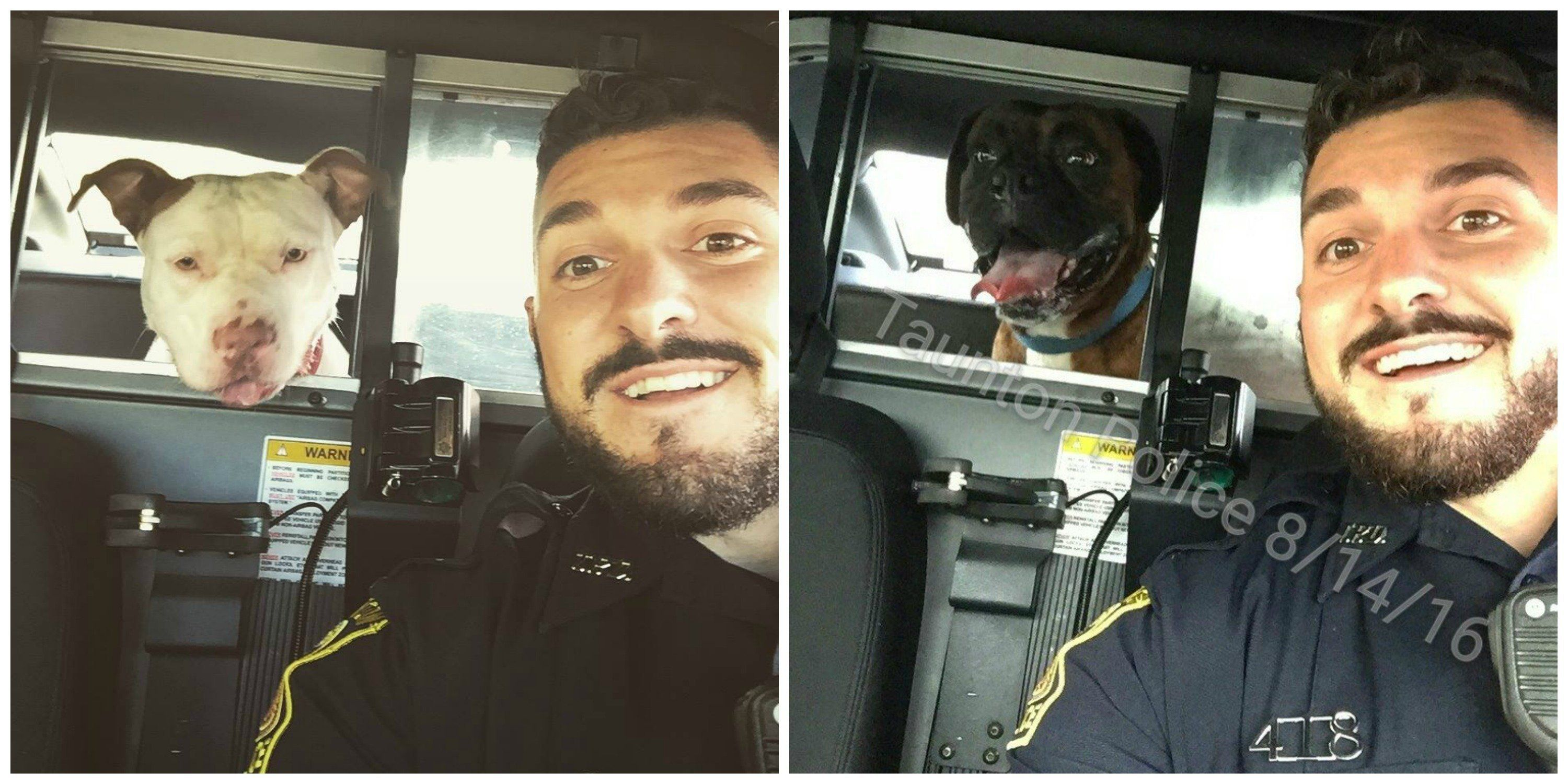 Cop Posts Selfies With Lost Pups To Help Sniff Out Their