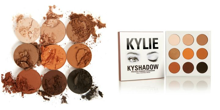 The Kyshadow palette and shades.