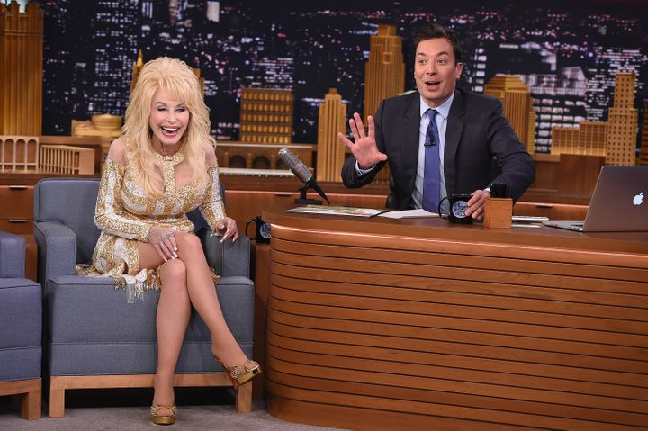 "Dolly Parton Visits ""The Tonight Show Starring Jimmy Fallon"" at Rockefeller Center on Aug. 23, 2016, in New York City."