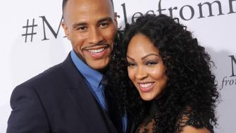 HOLLYWOOD, CA - MARCH 09:  Actress Meagan Good and DeVon Franklin arrive at the premiere of Columbia Pictures' 'Miracles From Heaven' at ArcLight Hollywood on March 9, 2016 in Hollywood, California.  (Photo by Gregg DeGuire/Getty Images)