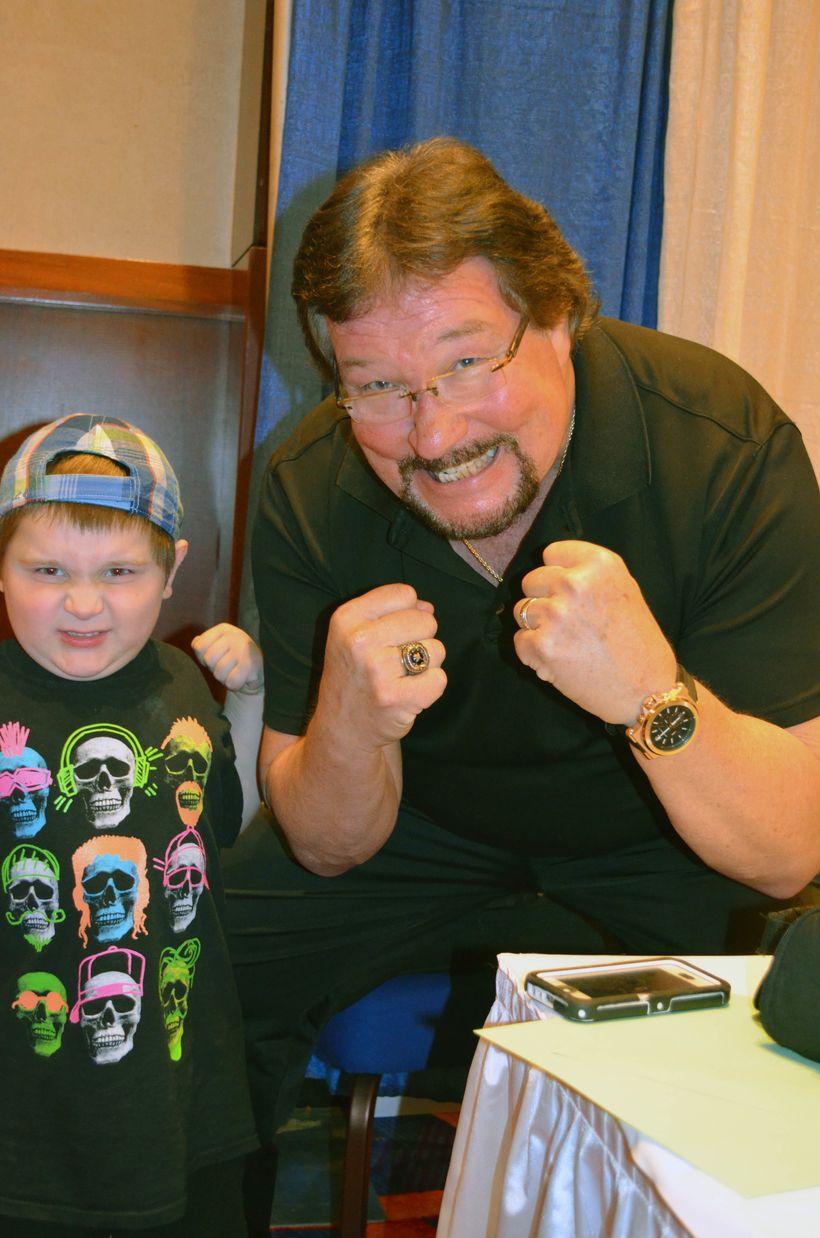Ted DiBiase; <i>The Million Dollar Man </i>with fan at <i>TerrifiCon </i>at <i>Mohegan Sun</i>