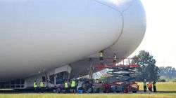 Giant 'Flying Bum' Airship Crashes During Test
