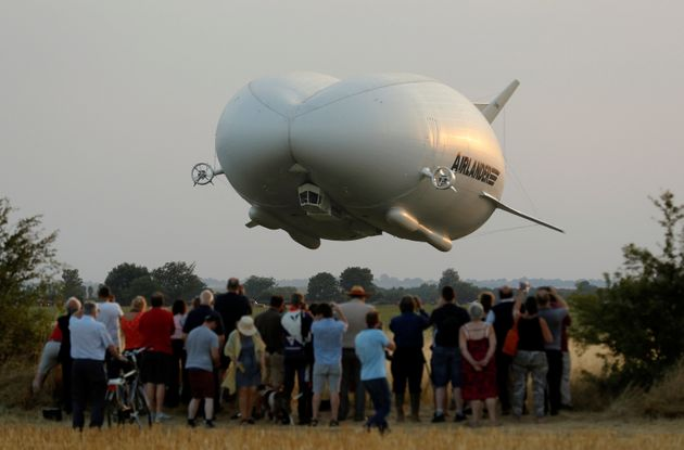 Airlander 10, seen during its first test flight on Aug. 17,