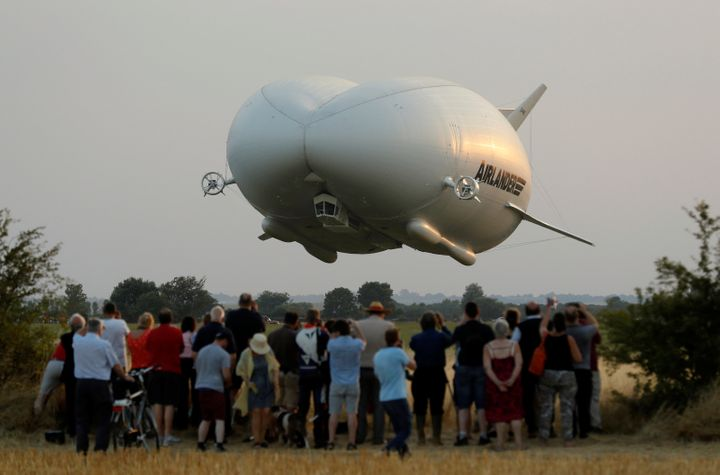 Airlander 10, seen during its first test flight on Aug. 17, 2016.