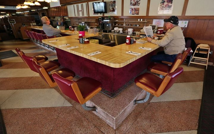 Customers dine at the Howard Johnson in Bangor.