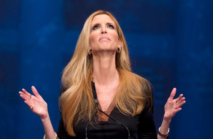 Ann Coulter was trying to celebrate her new book,