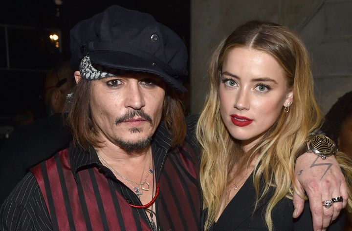 Johnny Depp and actress Amber Heard attend the 58th GrammyAwards at Staples Center on Feb. 15, 2016, in Los Angeles, Ca