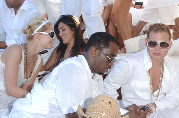 "At Diddy's ""White Party."""