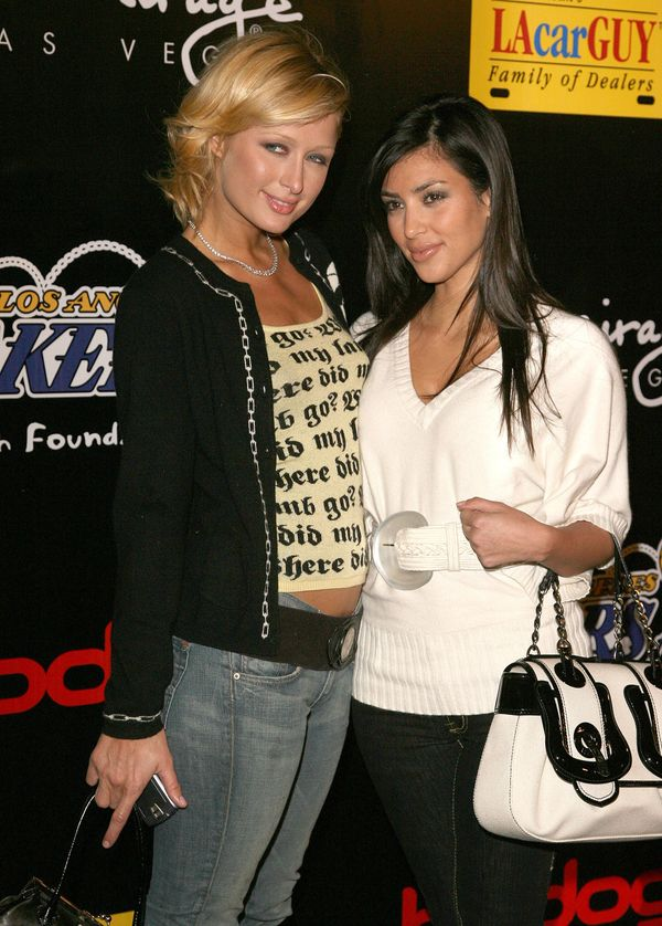 Paris Hilton and Kim Kardashian during The 3rd Annual Lakers Casino Night.