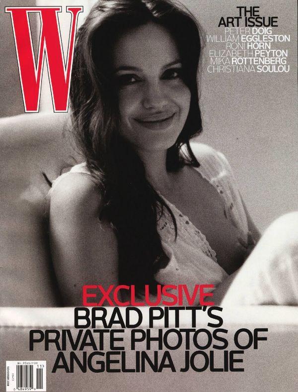 """The November 2008 cover of <em>W magazine</em> <a href=""""http://www.wmagazine.com/celebrities/2008/11/brad_pitt_angelina_jolie"""