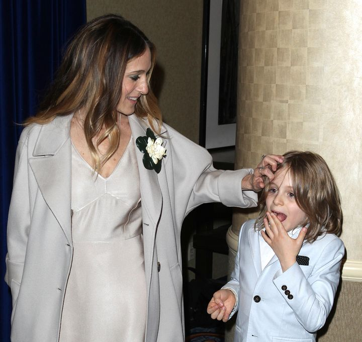 Sarah Jessica Parker and her son, James Wilkie Broderick.