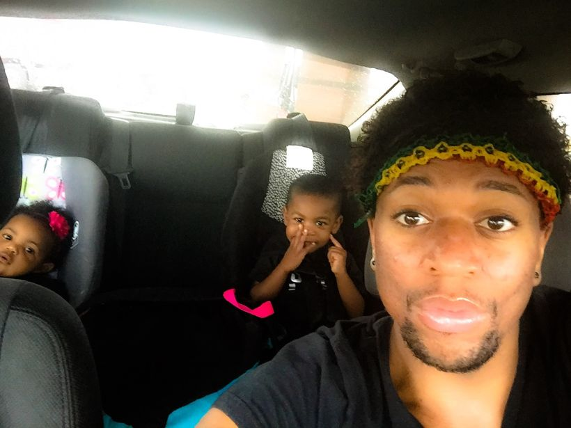 """With my nieceand nephew, Emani and Daiveyon. Daiveyon """"Unky, let's take a selfie!"""""""