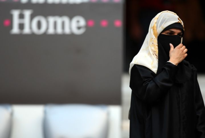 A woman wears a veilin Munich, Germany, on Aug. 5, 2008. The country's leaders have varying opinions on banning face co
