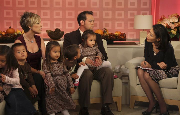"Kate and Jon Gosselin speak with NBC's Ann Curry on ""Today"" in October 2007."