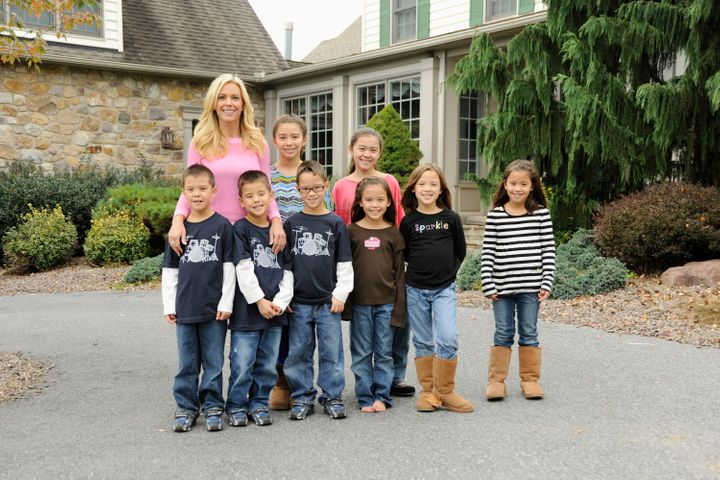 "Kate Gosselin appears on ""Celebrity Wife Swap"" Season 2, which debuted in February 2013, with her children."
