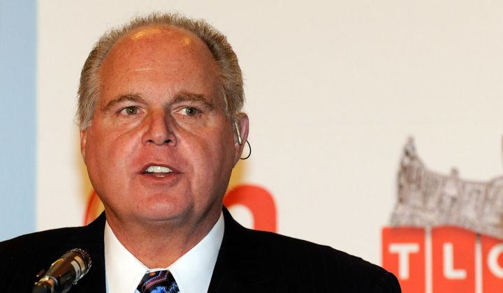 Radio talk show host and conservative commentator Rush Limbaugh, one of the judges for the 2010 Miss America Pageant, speaks