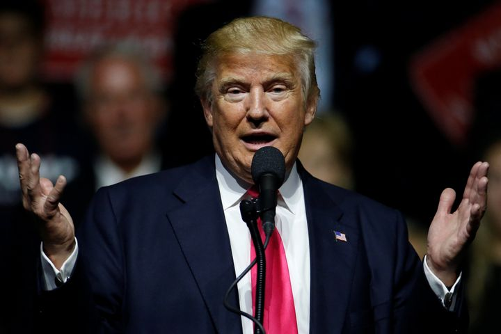 Republican presidential nominee Donald Trump speaks during a acampaign rally in Jackson, Mississippi, U.S., August 24, 2016.