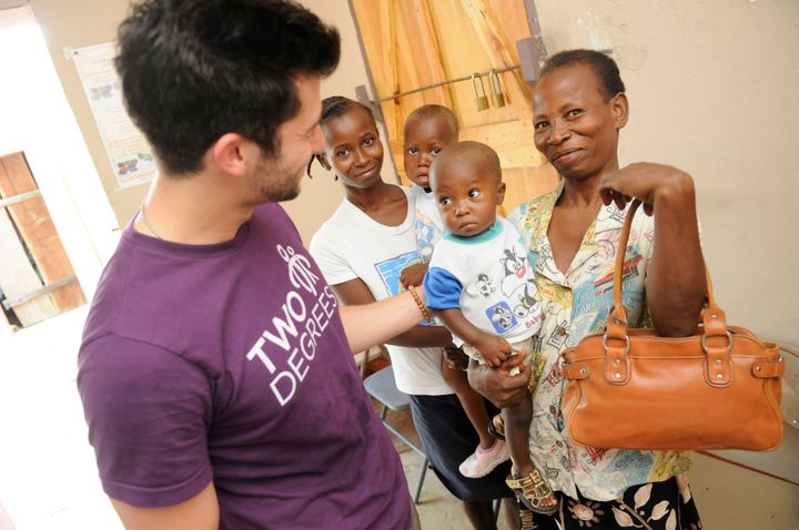 Visiting Haiti and malnourished children who received meals from the work our company was doing in the US.