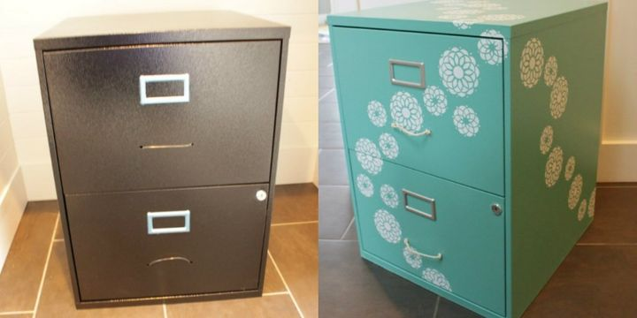 7 fabulous furniture makeovers using stencils   huffpost