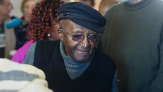 South African anti-apartheid activist and Nobel Peace Laureate Archbishop Desmond Tutu arrives to cast his vote in the South African local government elections at Milnerton High School in Cape Town on August 3, 2016.  South Africans vote in closely contested municipal elections that could deal a heavy blow to the African National Congress (ANC) that has ruled since leading the struggle to end apartheid. Nelson Mandela's former party risks losing control of key cities including the capital Pretoria, the economic hub Johannesburg and coastal Port Elizabeth, according to some polls. / AFP / RODGER BOSCH        (Photo credit should read RODGER BOSCH/AFP/Getty Images)