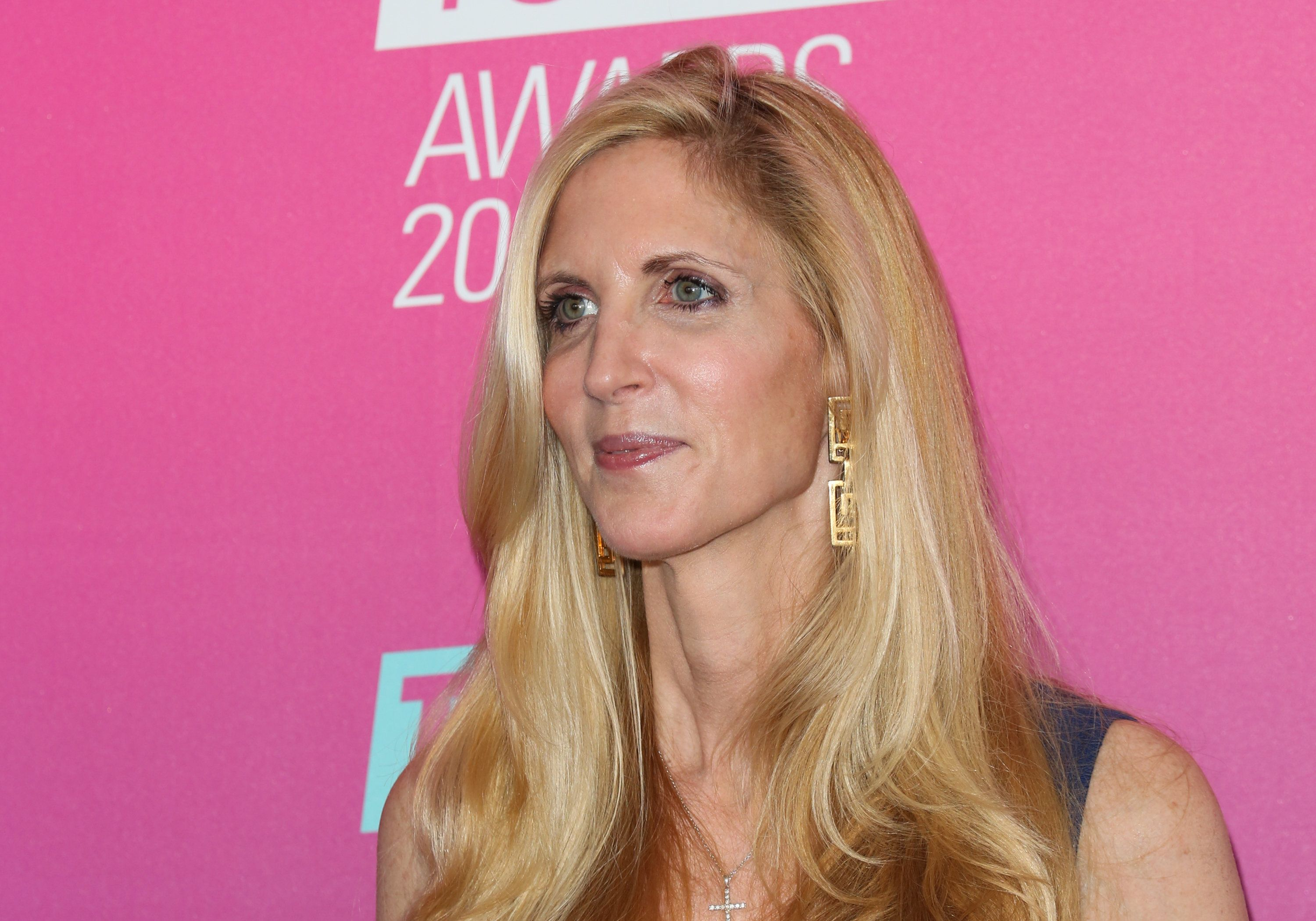 SANTA MONICA, CALIFORNIA - APRIL 10:  TV Personality Ann Coulter attends the TV Land Icon Awards at The Barker Hanger on April 10, 2016 in Santa Monica, California.  (Photo by Paul Archuleta/FilmMagic)