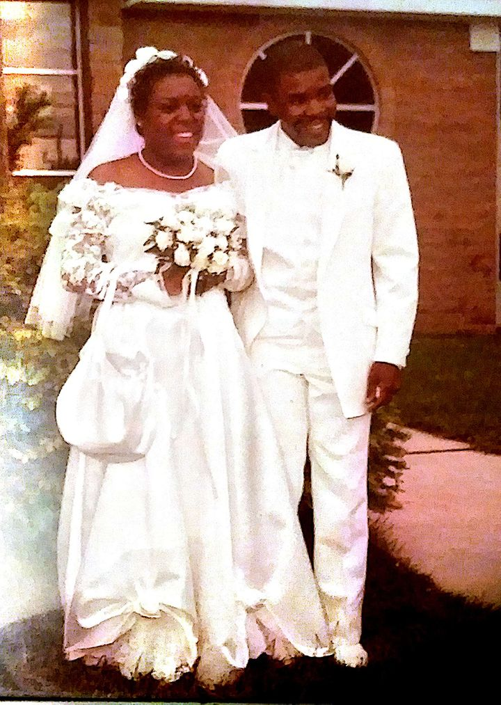 My mother and father at their wedding in 1984.