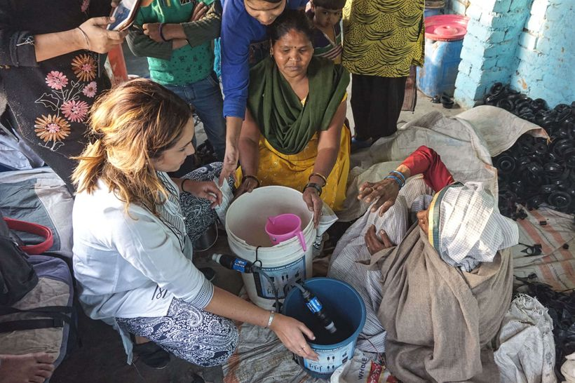 """<strong>Bringing clean water filters (<a href=""""https://www.facebook.com/projectpurposew4w/?fref=ts"""" target=""""_blank"""">Project P"""