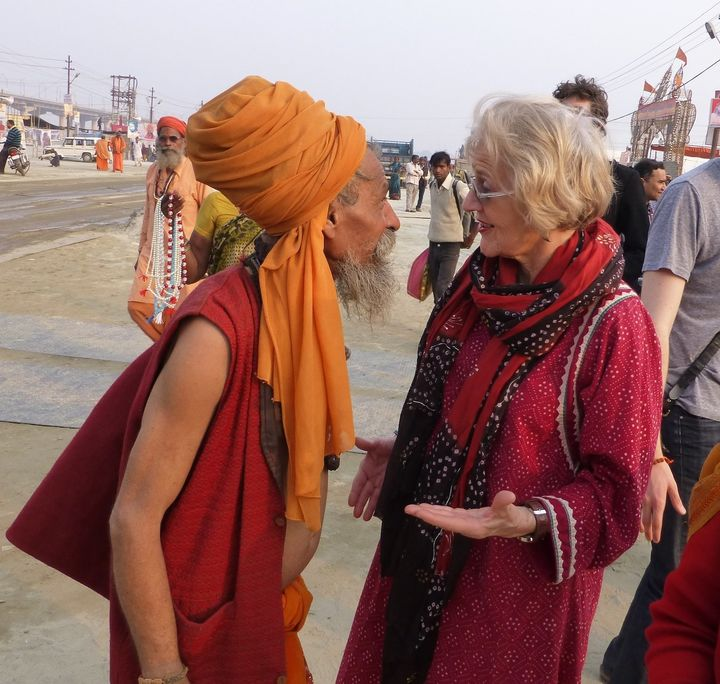 A photo from Diana Eck's trip to the Kumbh Mela in 2013.