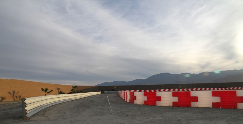 Impact Safety Systems Barriersact as a buffer on Thermal Club's track in Palm Springs.