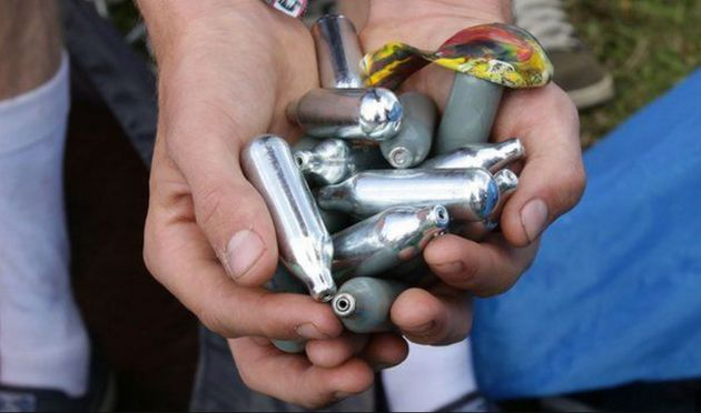 Police in London have seized nearly 14,000 canisters of nitrous